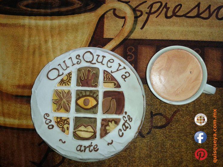 """Se terminó el paréntesis primaveral. Sí, a partir de las 9 pm en QuisQueya eco-arte-café podrán disfrutar de nuestro café La FLOR de Suchitlán; ya sea frío, para refrescarse, o muy caliente, por aquello de """"veneno vs. veneno"""". Y disfrutaremos de tan maravilloso regalo hecho galleta, cortesía de mi querida amiga Xitlali Castro. ¡Nos encanta!"""