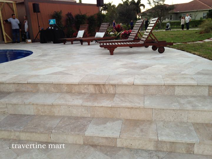 25 best ideas about travertine pavers on pinterest pool sand small backyard pools and small. Black Bedroom Furniture Sets. Home Design Ideas