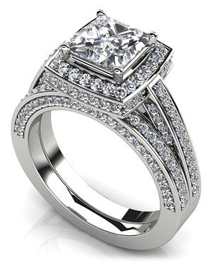 Splendid Princess Cut Bridal set