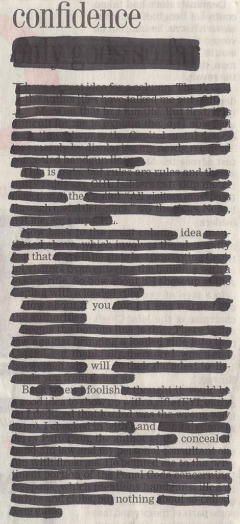 Newspaper Blackout (blog) - the brainchild of Austin-based artist and writer Austin Kleon