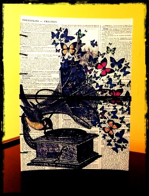 """Agenda Personalizata """"Butterflies"""" http://paintynotes.ro/?p=343&preview=true"""