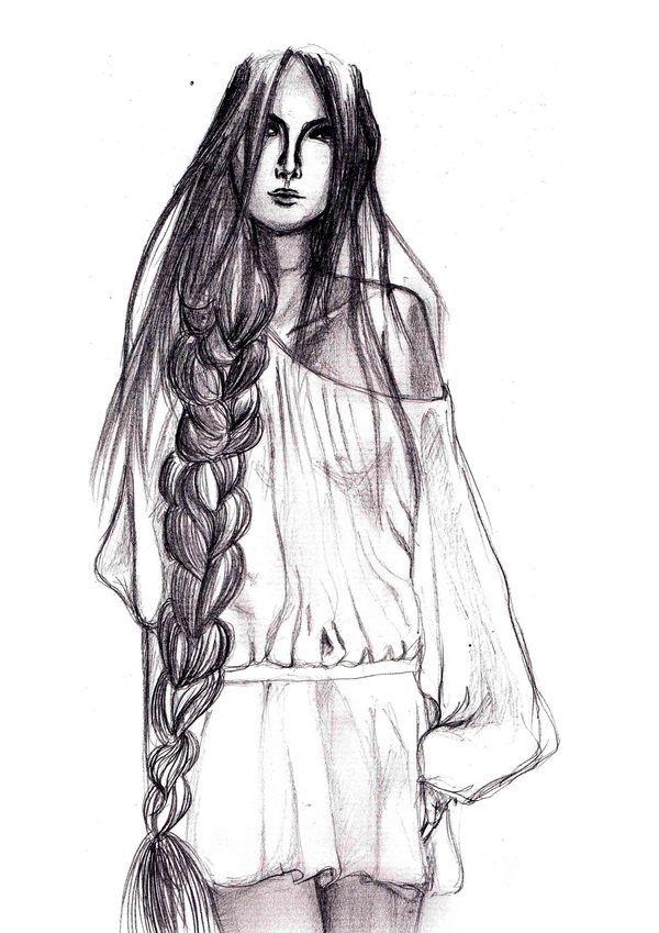 A collection of model sketches (Fashion illustration) by Yen Nguyen, via Behance