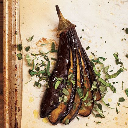 This simple preparation yields irresistible results. Use very firm, small eggplants; if young and fresh enough, they won't be bitter.
