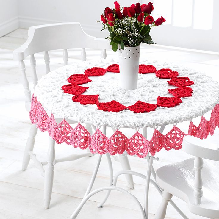 Amazing Valentines Tablecloth In Bernat Handicrafter Cotton Solids. Discover More  Patterns By Bernat At LoveKnitting. We Stock Patterns, Yarn, Needles And  Books ...