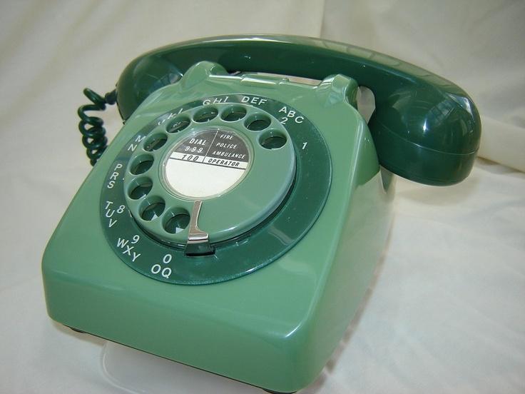 TELEPHONE1963 Twotone Green GPO Telephone 706 Antique