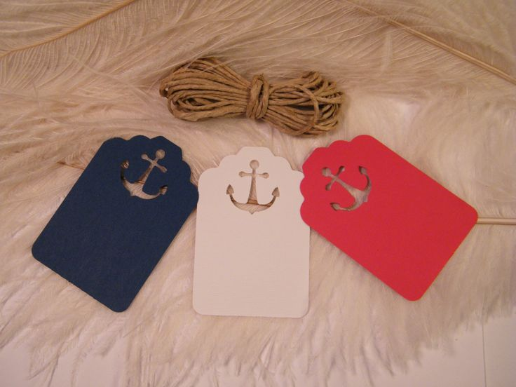 Nautical wedding place cards | 24 DIY Nautical Wedding Placecards / Gift Tags with UNATTACHED Twine ...