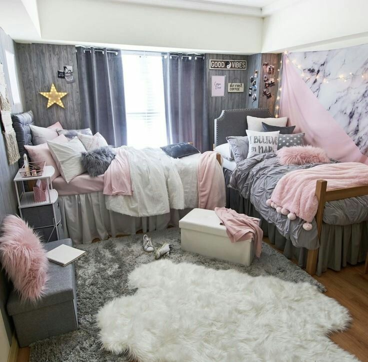 Glam Dorm Rooms That You Need To Copy Dorm Room Designs Girls Dorm Room College Dorm Room Decor