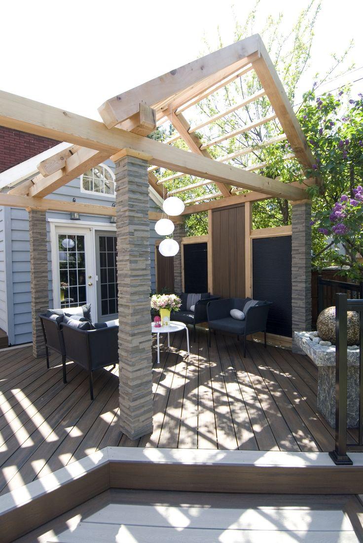 52 best pergola images on pinterest outdoor ideas for Open pergola designs