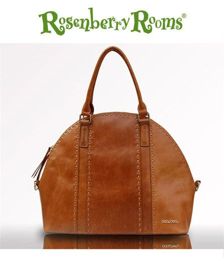 LOVE LOVE LOVE this leather bag. Can you believe it's a diaper bag?! Perfect for the stylish mama.