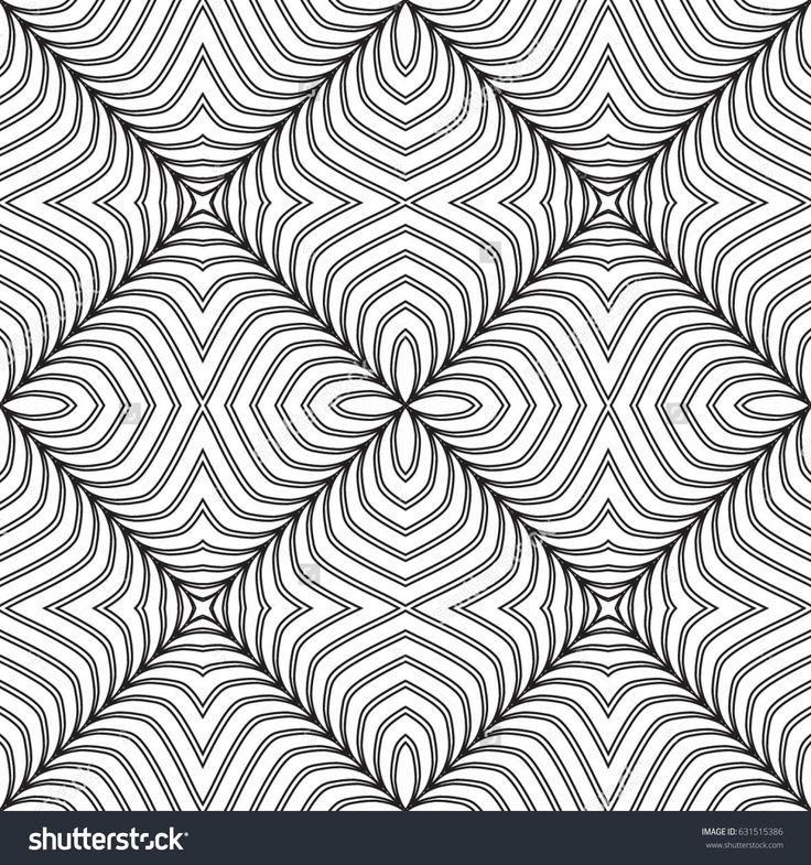 Geometrical, monochrome seamless pattern. Gothic style. Vintage element. Wall-paper for the press. Vector illustration. Simple linear style.