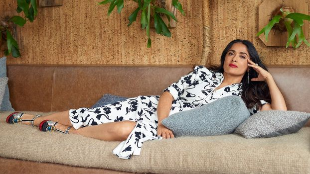 Salma Hayek Has Perfected the Steamy Swimsuit Pose