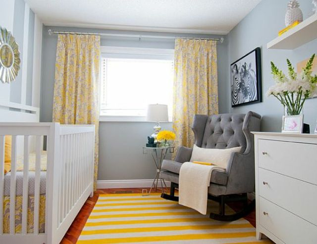 theme gris jaune chambre bebe