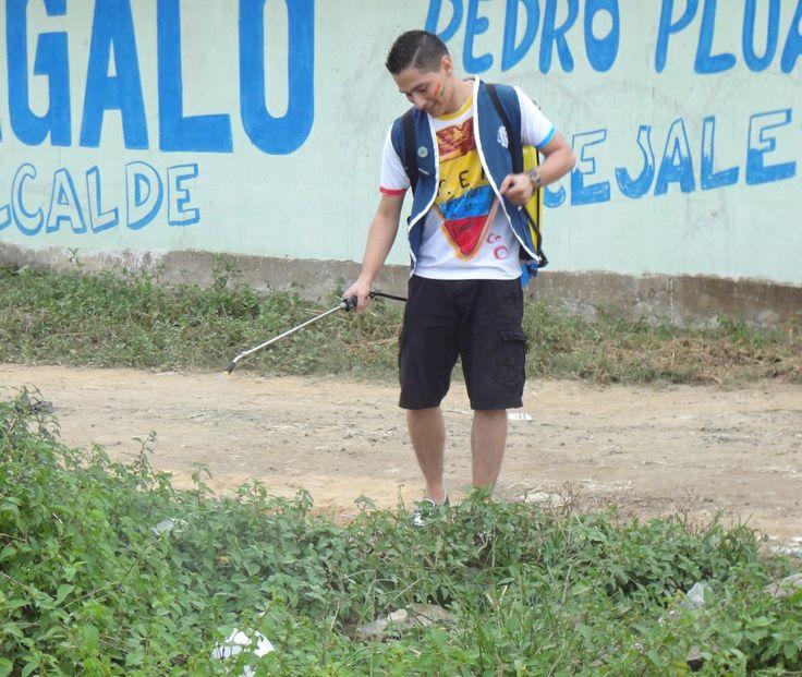 Santa Lucía Leo Club and Santa Lucía Leo Club (Ecuador)   Leos held a community clean up for World Environment Day