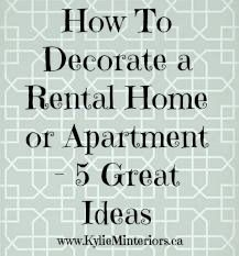 decorating ideas for rent homes - Decorating Homes Ideas