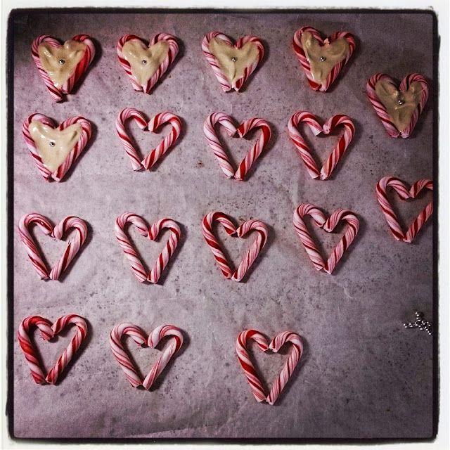 Pulverhexen's DIY: White chocolate & peppermint cane hearts <3
