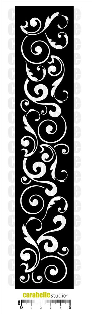 Pochoir Edge : Arabesques Carabelle Studio, Art Template Edge - Art Stamp