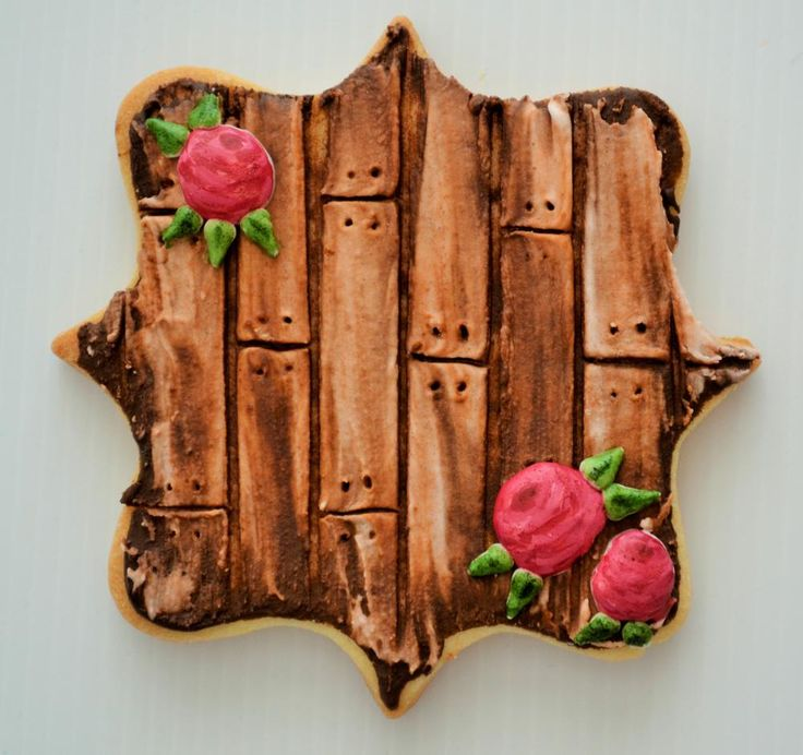 Rustic Wood Plank Cookie Tutorial by Belleissimo Cookies (link to tutorial in comments) | Cookie Connection