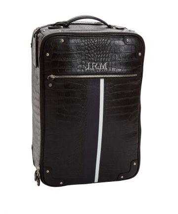Valise cabine cuir noir à vos initiales de Jack Russell Malletier - Chez LESSisRARE.fr noir 700.00€