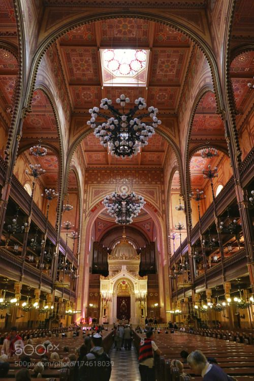 The big synagoge in Budapest by AlbertFitskie  travel religion church tourism architecture building interior budapest inside indoors religious syna