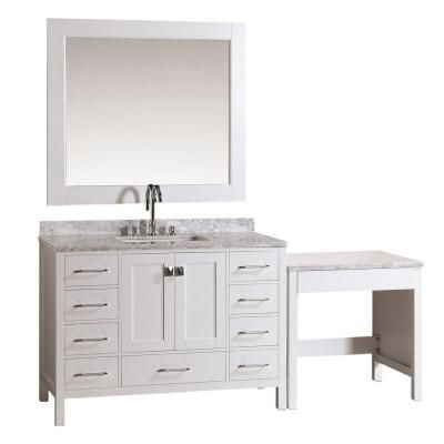 design element london 48 in w x 22 in d vanity in white with