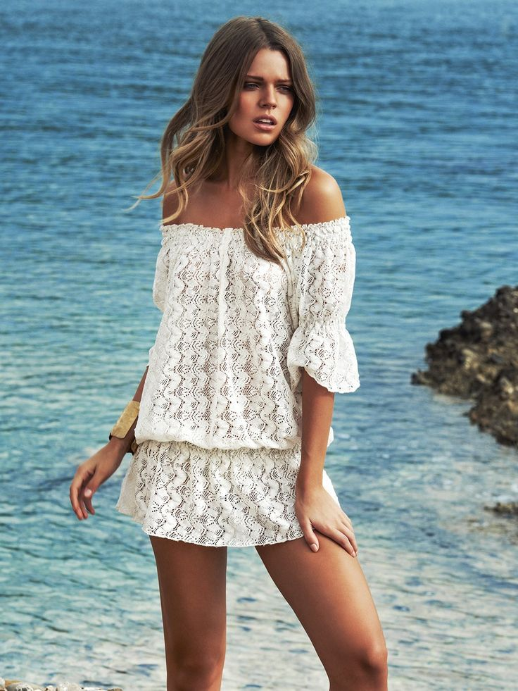 Swimwear Cover up 2015 /// White cover up Melissa Odabash: Nicola cover up | added this coverup to my list! soooo pretty!!!Swimwear World l 2015 resort / beach coverup