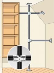 No room for swing-open doors? Avoid sliders, which block the view, and invest in sturdy, solid-core or solid-wood bifolds and heavy-duty fittings (we like those at johnsonhardware.com). Lightweight doors with bad fittings wobble and constantly fall off their tracks.