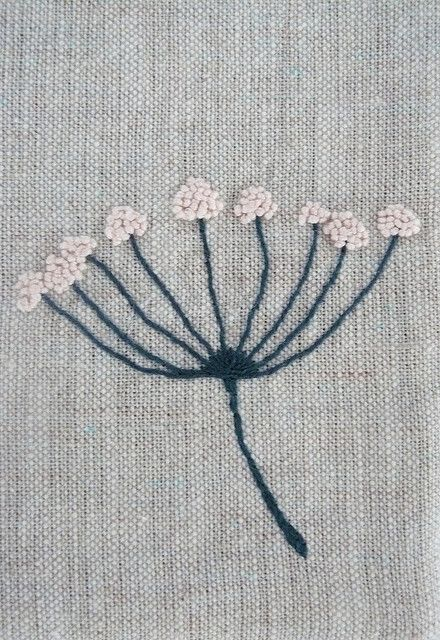 Embroidery on linen by edwardandlilly, via Flickr.