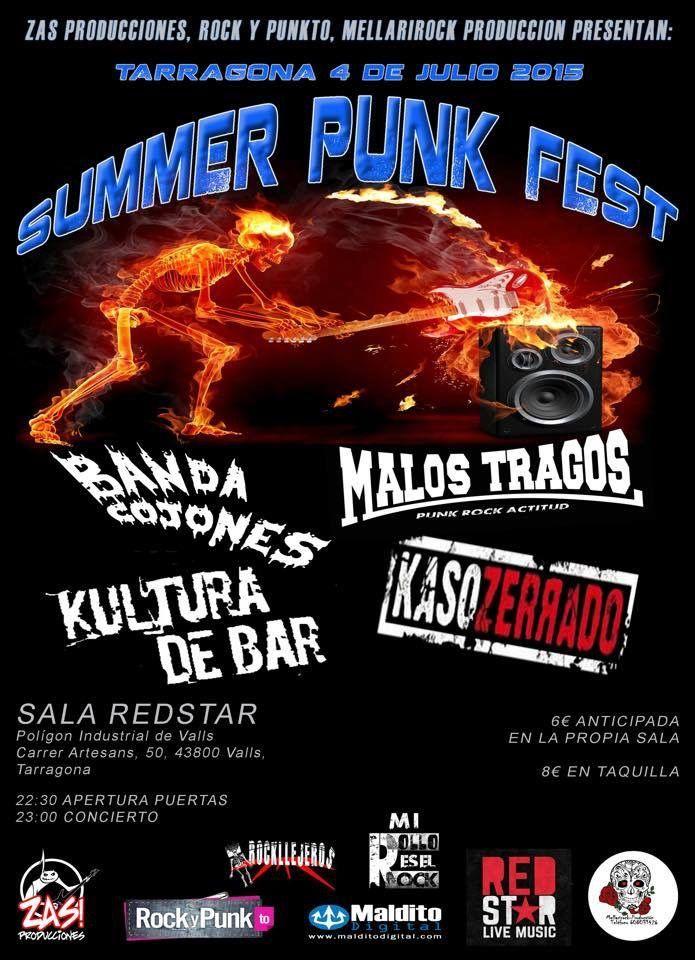 Como anunciábamos hace ya unos meses desde Summer Punk Fest , la primera edición del festival contará con al menos tres fechas a lo largo de la geografía española, siendo la primera de ellas el próximo 19 de junio en Madrid, en Gruta77 . Ya podemos anunciaros además que para la segunda fecha hemos contado con una sala de reciente apertura, de la Sala RedStar , en el polígono industrial de Valls, en Tarragona. La cita será el próximo 4 de julio y en ésta ocasión podremos contar, además de con…