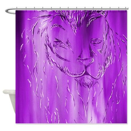 Purple zebra curtains bathroom purple stylish lion shower