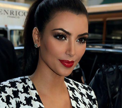kim stunning makeup