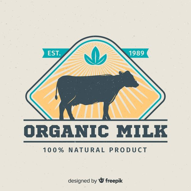 Cow Silhouette Milk Logo Graphic Design Posters Logos Vector Free