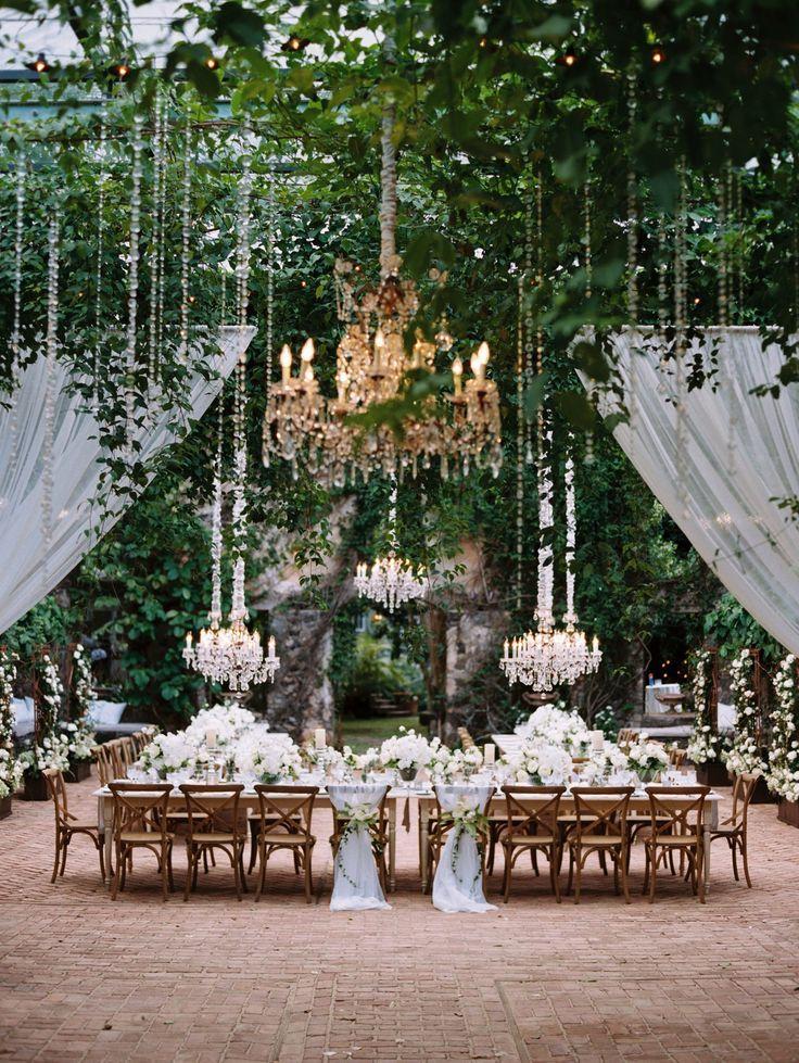 Rococo Crystal Chandeliers Wedding Decorations Maui Weddings