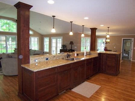 kitchen island with columns | Kitchen Islands You'll Love