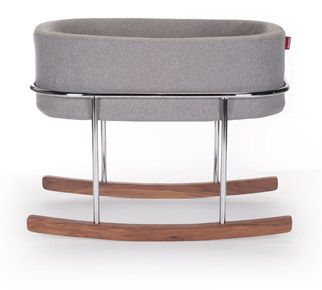 modern nursery furniture. monte rockwell bassinet heather grey basket modern nursery furniture