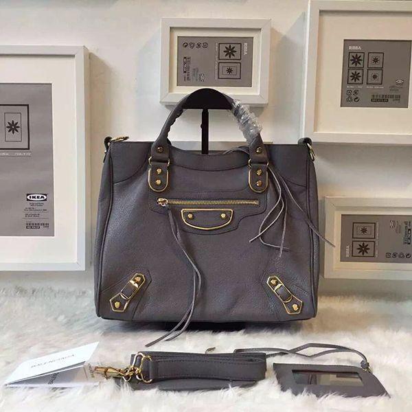 balenciaga velo metallic edge grey bag