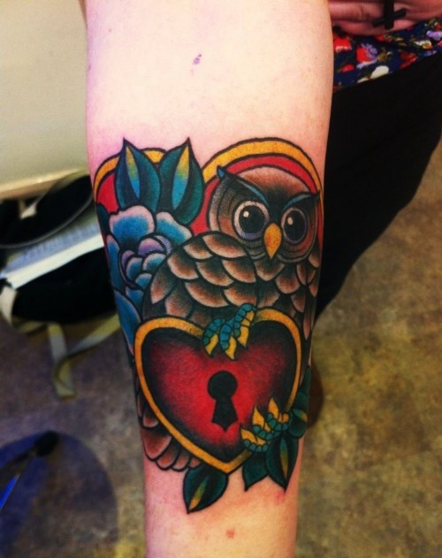 17 best images about tattoos on pinterest tribal rose for Owl heart tattoo