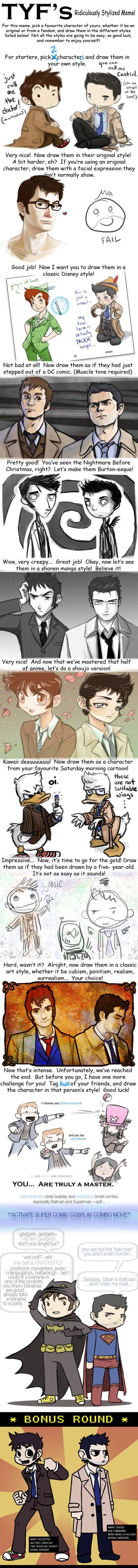 Style Meme - DW and SPN by JoannaJohnen-- do I put this in doctor who or supernatural?
