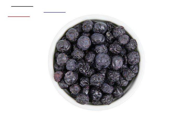 Freezedried blueberries 2 ounces container