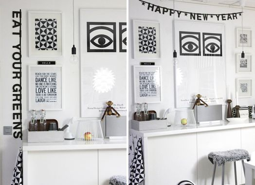 Graphic art in the kitchen