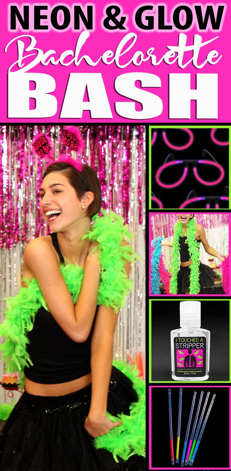 Get Neon & Glow Bachelorette Party Ideas, Party Favor Ideas and more!