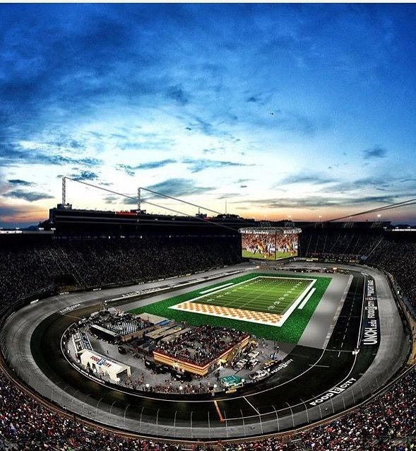 Va Tech vs Tn Vols at Bristol, Tn (NASCAR) in 2016.