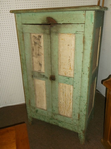 1850u0027s Old Green Painted Jelly Cupboard, Pie Safe, Original Untouched  Condition | EBay