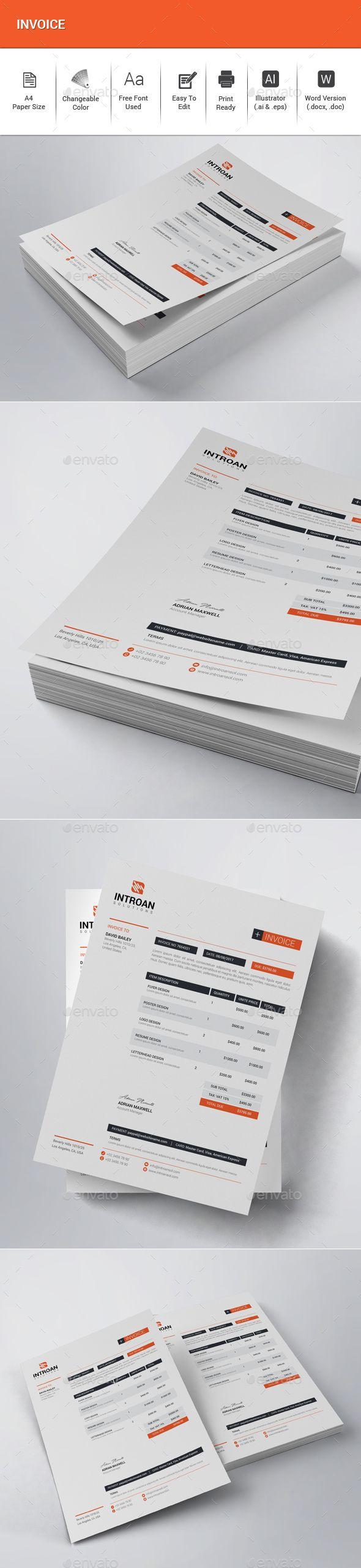 #Invoice - #Proposals & Invoices Stationery Download here:   https://graphicriver.net/item/invoice/20456060?ref=alena994