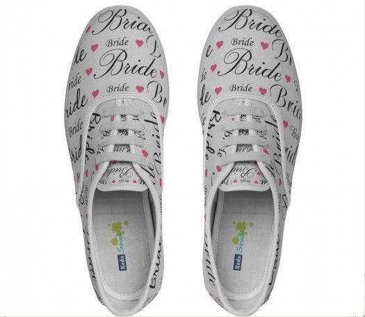 Women's Keds Lace-Up Bride Pattern Shoes {Bridal Shower