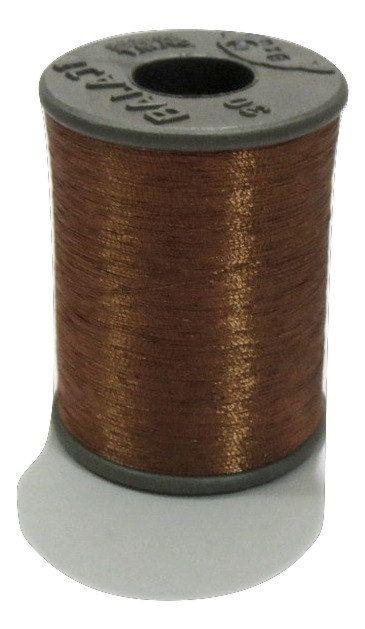 1 Spool Metallic Copper Embroidery Thread, Hand/Machine Embroidery Thread, Zari…