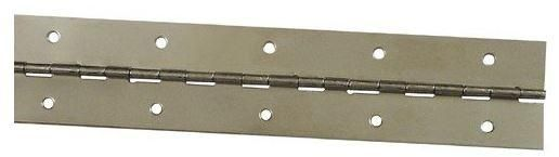 """Stanley Continuous Hinge, Bright Brass, 1-1/2"""" x 48"""""""