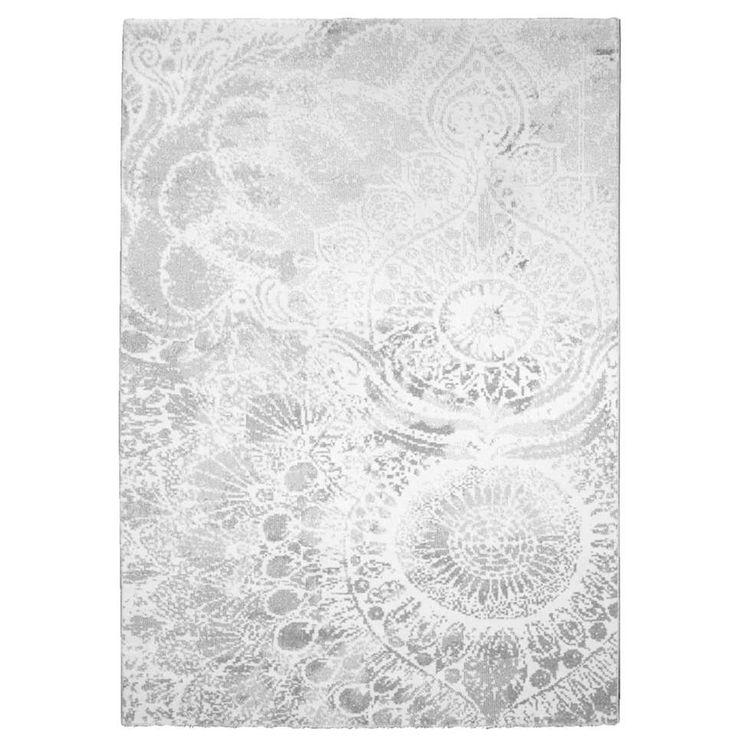 Vloerkleed Sevilla - wit/zilver - 160x230 cm | Leen Bakker