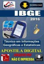 Apostila Digital Concurso IBGE Tecnico em Informacoes Geograficas e Estatisticas 2016