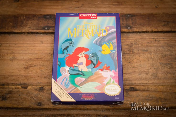 For sale here is a vintage 90s NES Little Mermaid video game for the classic Nintendo gaming system, ©1991.