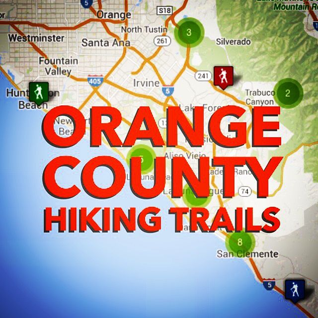 An interactive map and listing of Orange County hiking trails for all fitness levels. Everything from easy beach walks to challenging wilderness trails.